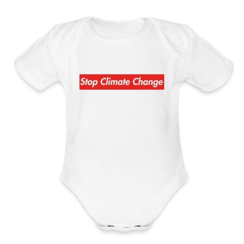 Stop Climate Change - Organic Short Sleeve Baby Bodysuit
