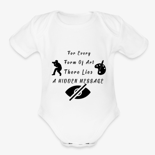 Hidden Message - Organic Short Sleeve Baby Bodysuit