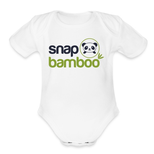 Snap Bamboo Square Logo Branded - Organic Short Sleeve Baby Bodysuit