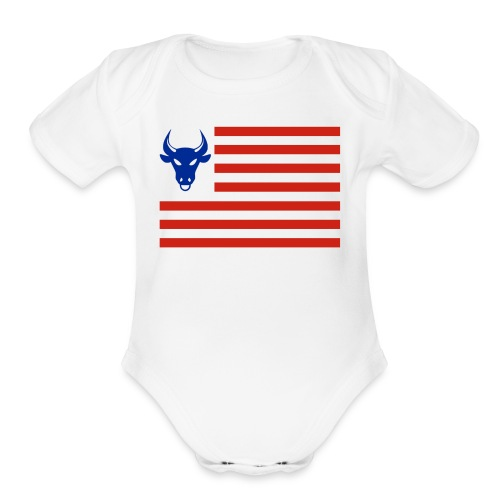 PivotBoss Flag - Organic Short Sleeve Baby Bodysuit