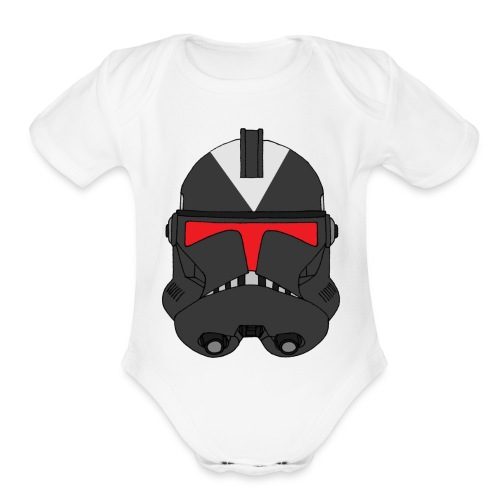 steath-trooper - Organic Short Sleeve Baby Bodysuit