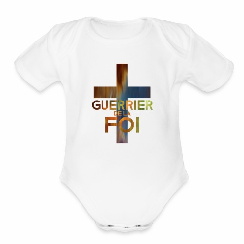 WARRIOR OF FAITH - Organic Short Sleeve Baby Bodysuit