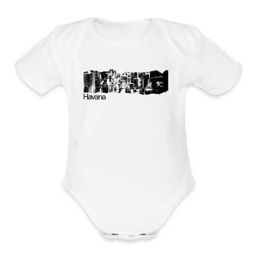 Havana Cuba T-Shirt - Organic Short Sleeve Baby Bodysuit