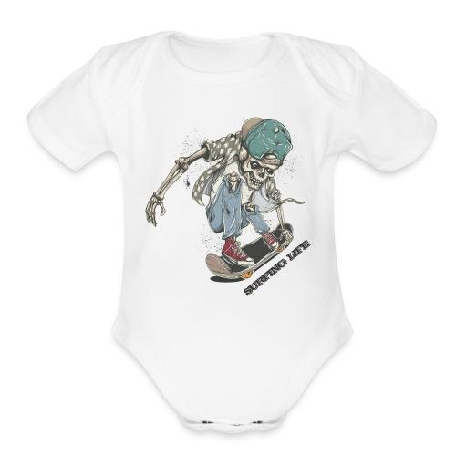 SURFING LIFE - Organic Short Sleeve Baby Bodysuit