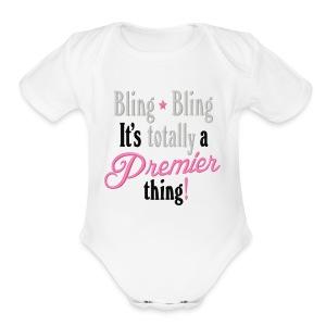 Bling - Short Sleeve Baby Bodysuit