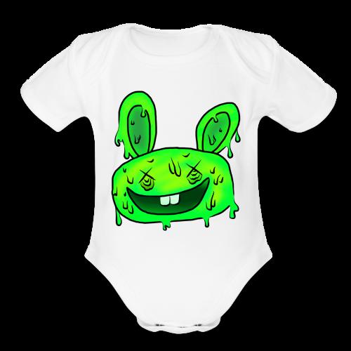 5 steps' bunny - Organic Short Sleeve Baby Bodysuit