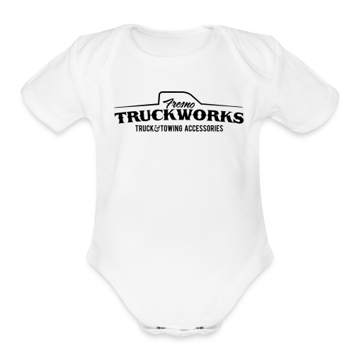 FTW Logo Black - Organic Short Sleeve Baby Bodysuit