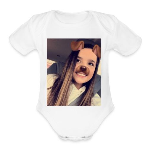 Annie Leblanc - Organic Short Sleeve Baby Bodysuit