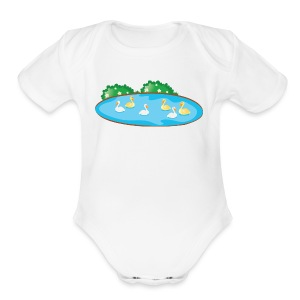 Duck - Short Sleeve Baby Bodysuit