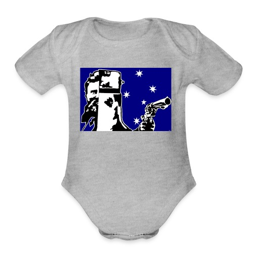 NED KELLY - Organic Short Sleeve Baby Bodysuit