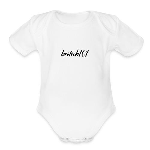 brotech101 apparel Season 1 - Organic Short Sleeve Baby Bodysuit