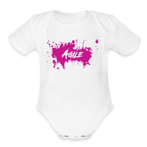 AgileNation Splatter Design - Organic Short Sleeve Baby Bodysuit