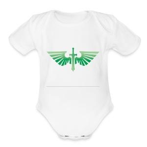 Dark Angels - Short Sleeve Baby Bodysuit