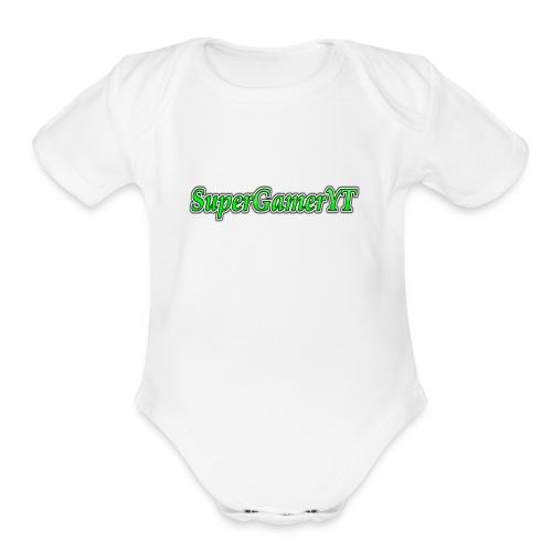 Name in Merch - Organic Short Sleeve Baby Bodysuit