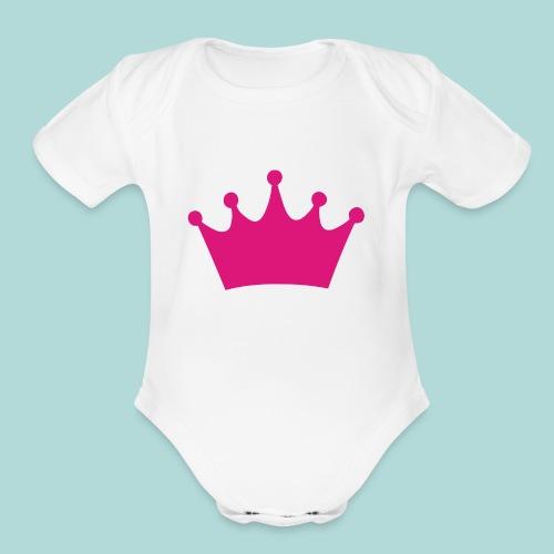 crown - Organic Short Sleeve Baby Bodysuit