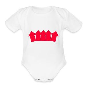Clickbait - Short Sleeve Baby Bodysuit