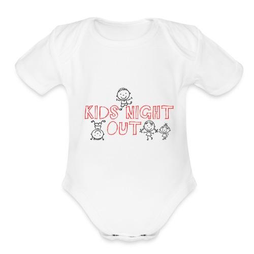 Kids Night Out Redone - Organic Short Sleeve Baby Bodysuit