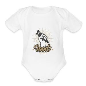 Food Not Bomb - Short Sleeve Baby Bodysuit