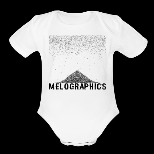 Falling Letters - Organic Short Sleeve Baby Bodysuit
