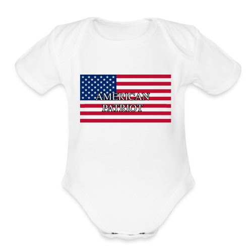 American Patriot - Organic Short Sleeve Baby Bodysuit