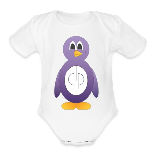 The Purple Penguin - Organic Short Sleeve Baby Bodysuit