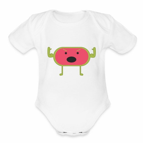 Angry Watermelon - Organic Short Sleeve Baby Bodysuit