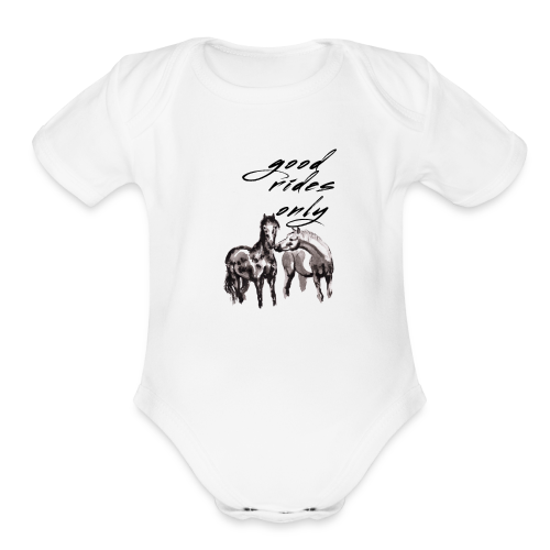 Good Rides Only - Organic Short Sleeve Baby Bodysuit