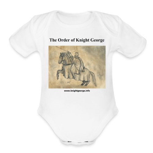 The Order of Knight George Art - Organic Short Sleeve Baby Bodysuit