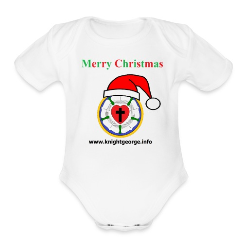The Order of Knight George - Christmas Luther Rose - Organic Short Sleeve Baby Bodysuit