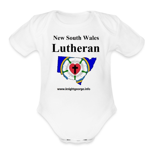 New South Wales Lutherans - Organic Short Sleeve Baby Bodysuit