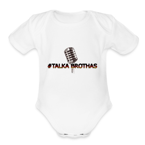 Talka Brothas Mic-Check - Organic Short Sleeve Baby Bodysuit