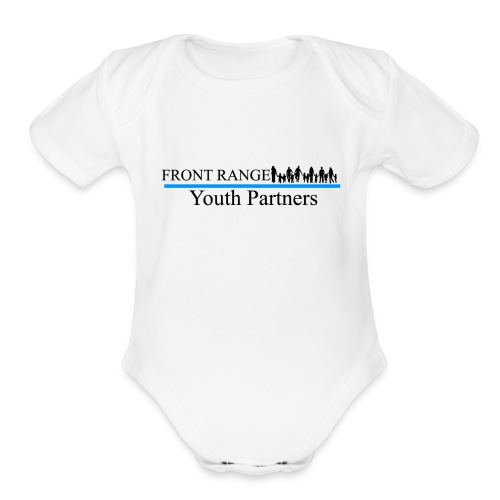 Front Range Youth Partners LOGO - Organic Short Sleeve Baby Bodysuit