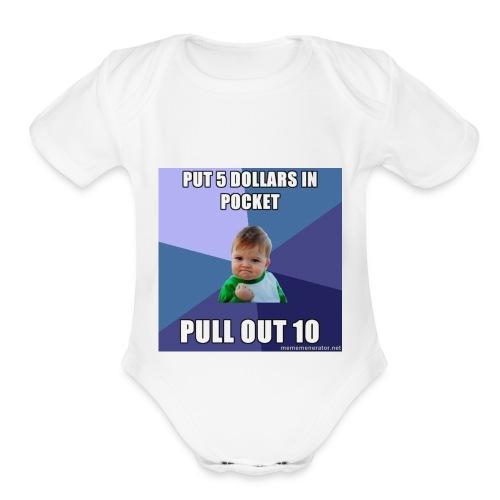 success 56a9fd1f3df78cf772abee09 - Organic Short Sleeve Baby Bodysuit
