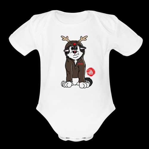 TonkaReindeerYouTube - Organic Short Sleeve Baby Bodysuit
