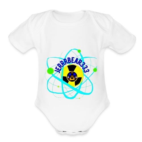 Jerrrbear Logo - Organic Short Sleeve Baby Bodysuit