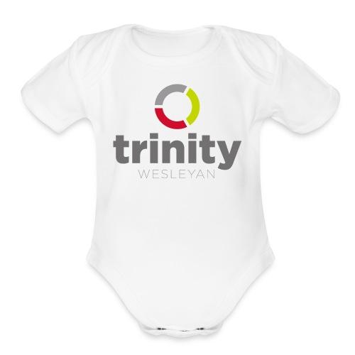 Trinity Logo - Organic Short Sleeve Baby Bodysuit