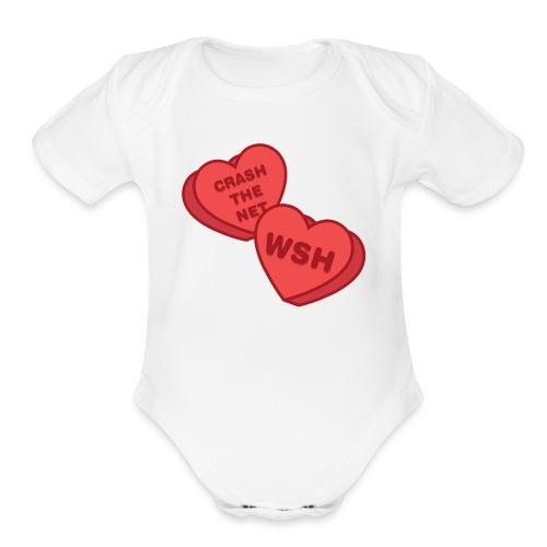 Candy Hearts - Organic Short Sleeve Baby Bodysuit