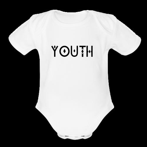 YOUTH - Organic Short Sleeve Baby Bodysuit