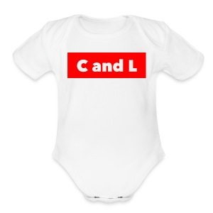 C and L Red Box - Short Sleeve Baby Bodysuit