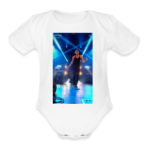 William singe on stage - Organic Short Sleeve Baby Bodysuit