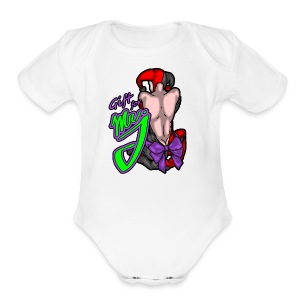 mr j - Short Sleeve Baby Bodysuit