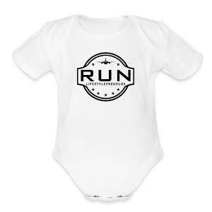 Rank Up Now - Lifestylepreneurs - Short Sleeve Baby Bodysuit