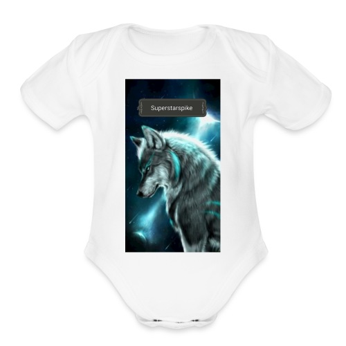 Superstarspike on youtube - Organic Short Sleeve Baby Bodysuit