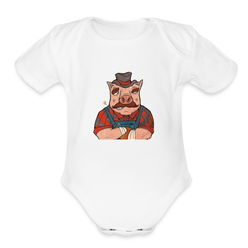 It's American Made! - Organic Short Sleeve Baby Bodysuit