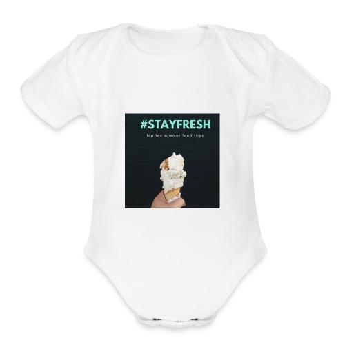 stayfresh - Organic Short Sleeve Baby Bodysuit