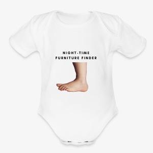 Night-Time Furniture Finder - Short Sleeve Baby Bodysuit