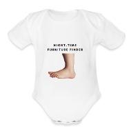 Night Time Furniture Finder   Organic Short Sleeve Baby Bodysuit