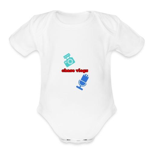 Chase vlogs merch (YT) - Organic Short Sleeve Baby Bodysuit