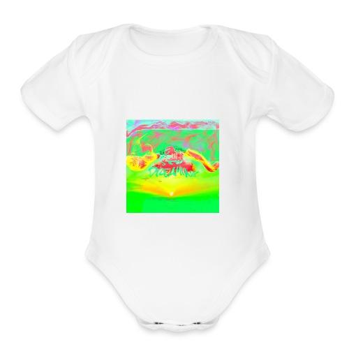IMG 2457 - Organic Short Sleeve Baby Bodysuit