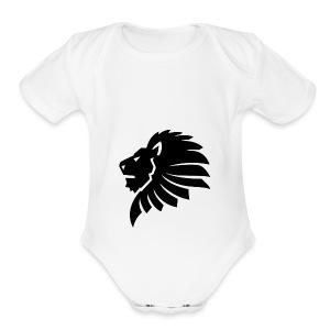 BLACK_LION - Short Sleeve Baby Bodysuit
